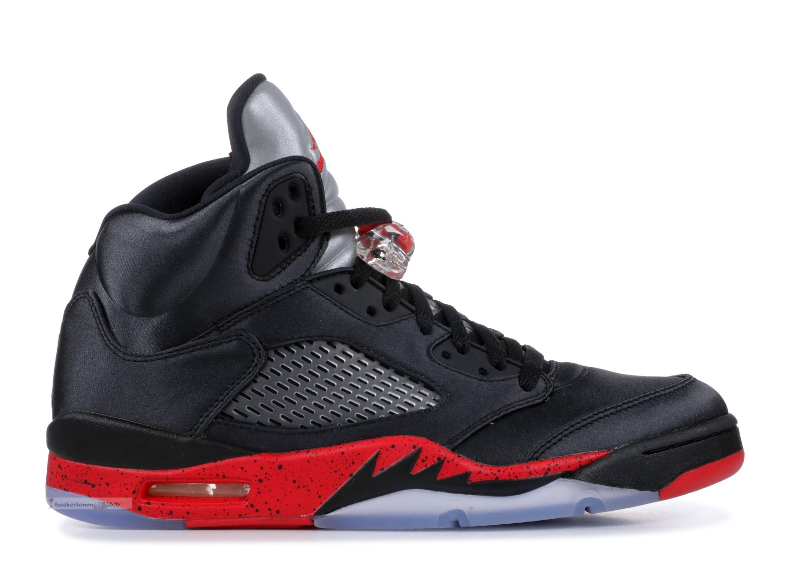 "Air Jordan 5 Retro ""Satin Bred"" Noir Rouge (136027-006) Chaussure de Basket"