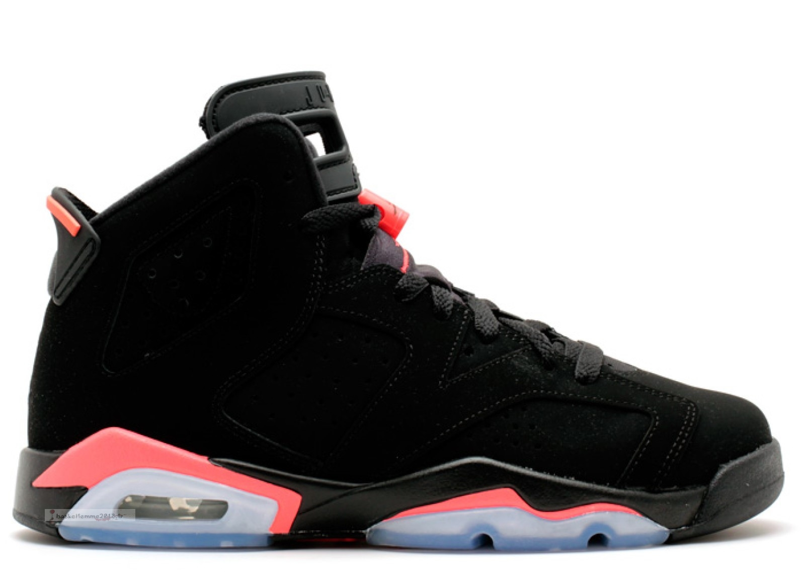 "Air Jordan 6 Retro Bg (Gs) ""Infrared 2014"" Noir Rose (384665-023) Chaussure de Basket"