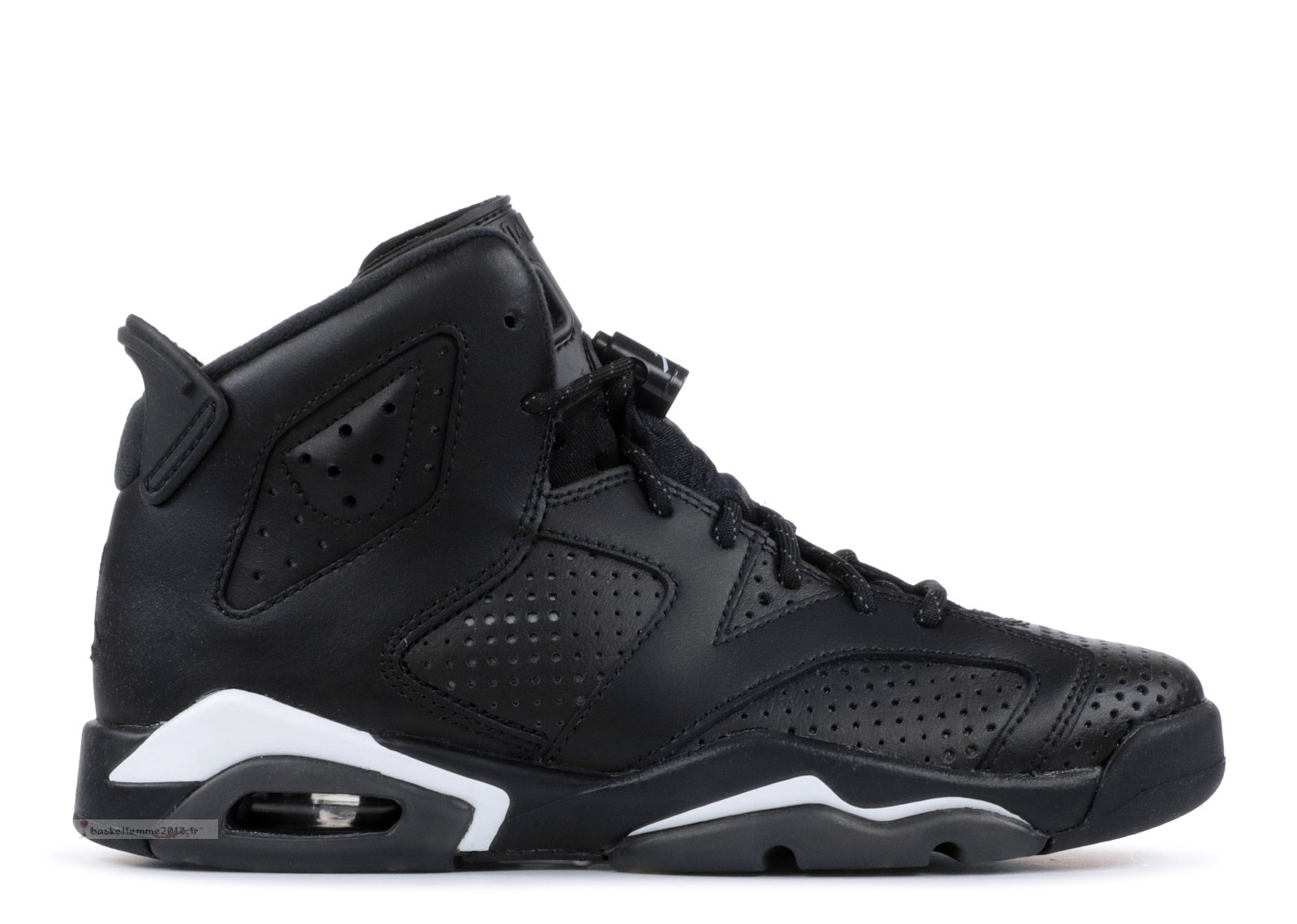 "Air Jordan 6 Retro Bg (Gs) ""Noir Cat"" Noir (384665-020) Chaussure de Basket"