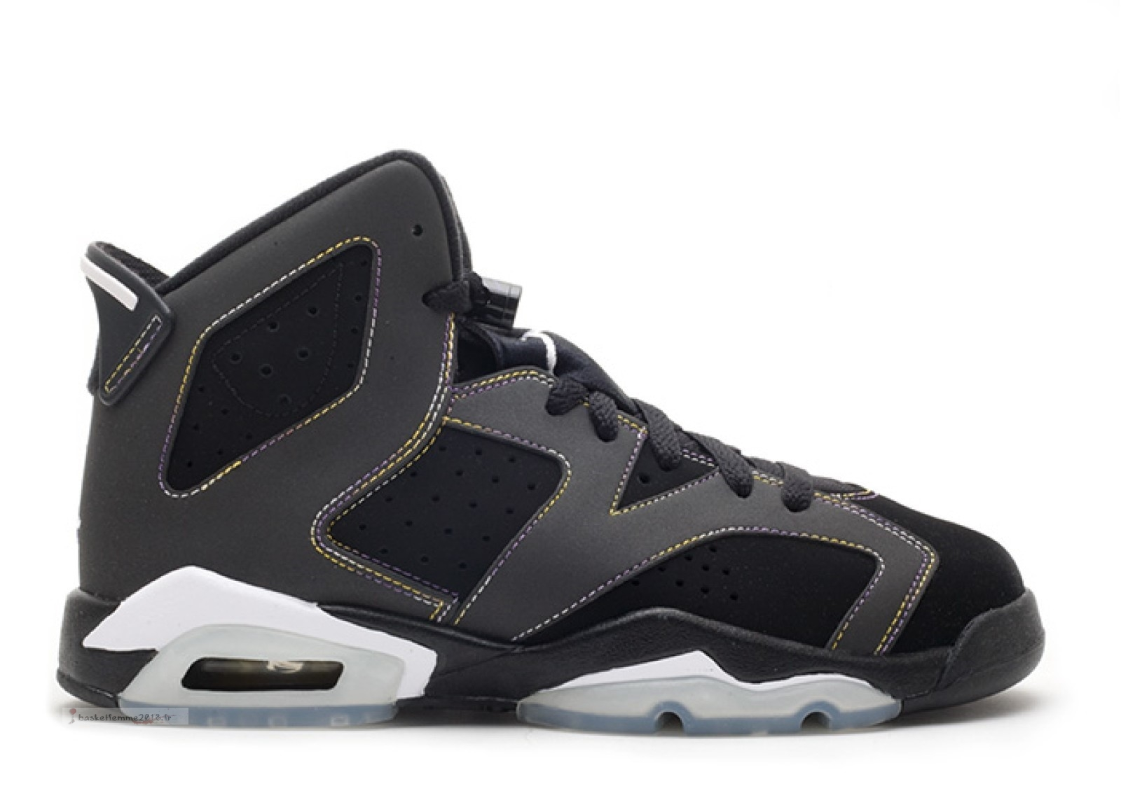 "Air Jordan 6 Retro (Gs) ""Lakers"" Noir (384665-002) Chaussure de Basket"