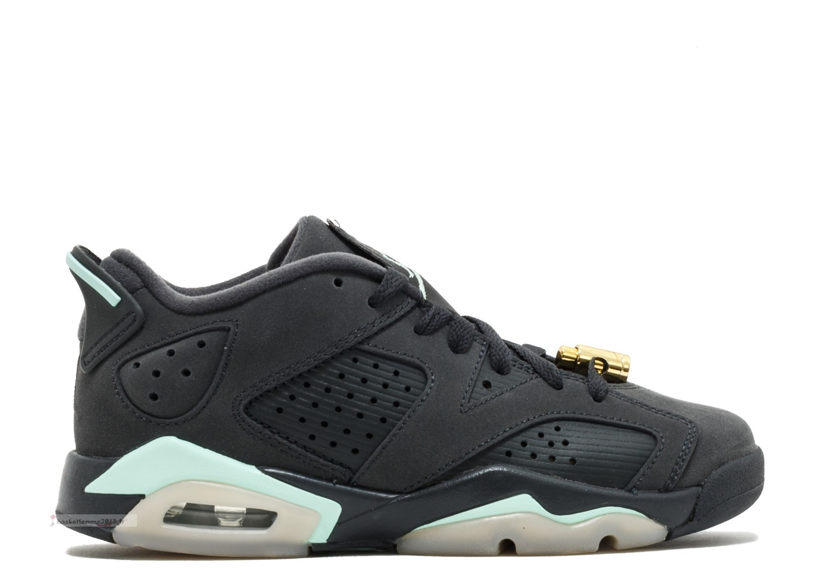 "Air Jordan 6 Retro Low Gg ""Mint Foam"" Noir (768878-015) Chaussure de Basket"
