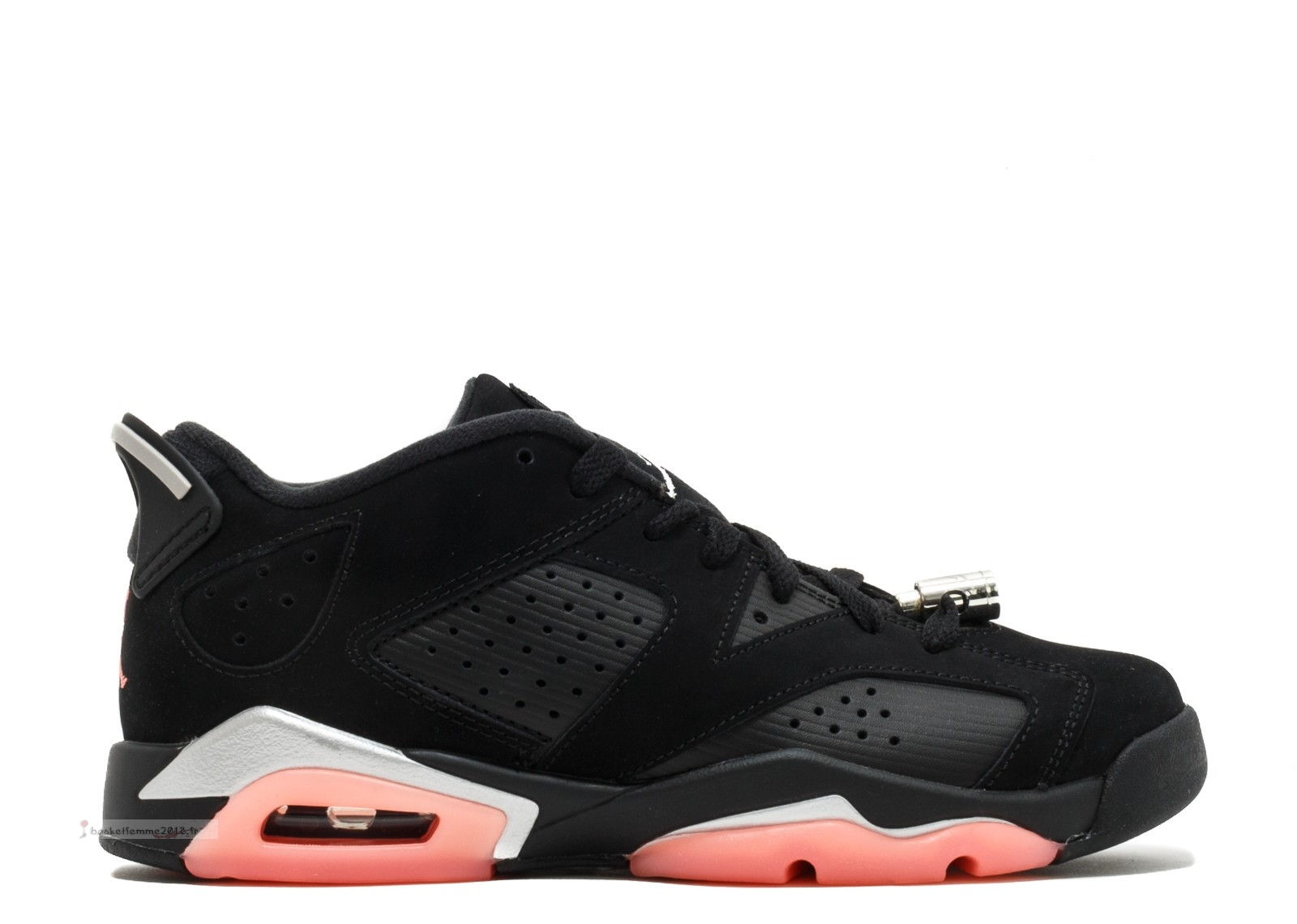 Air Jordan 6 Retro Low Gg Noir Orange (768878-022) Chaussure de Basket