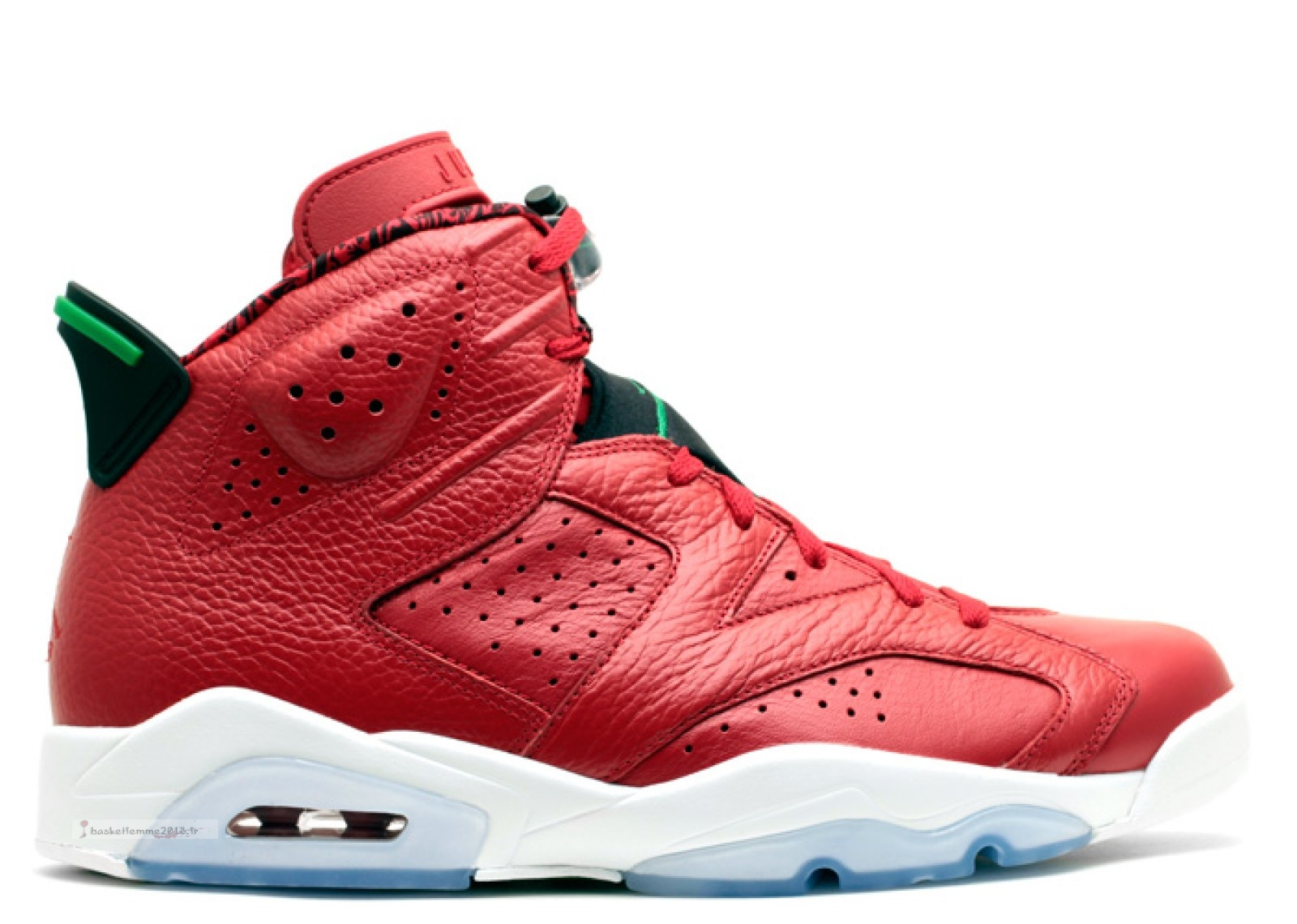 "Air Jordan 6 Retro Spiz'Ike ""History Of Jordan"" Rouge Vert (694091-625) Chaussure de Basket"