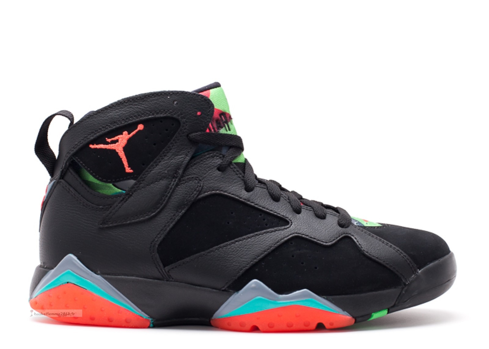 "Air Jordan 7 Retro ""30Th Barcelona Nights"" Noir Orange (705350-007) Chaussure de Basket"