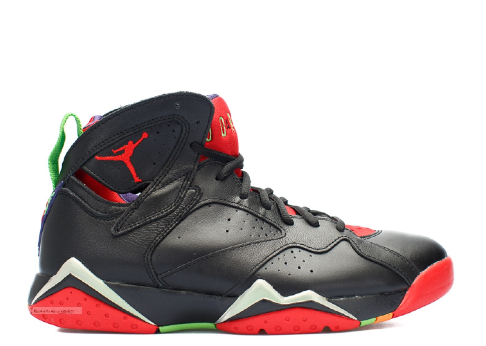 "Air Jordan 7 Retro ""Marvin The Martian"" Noir Rouge (304775-029) Chaussure de Basket"