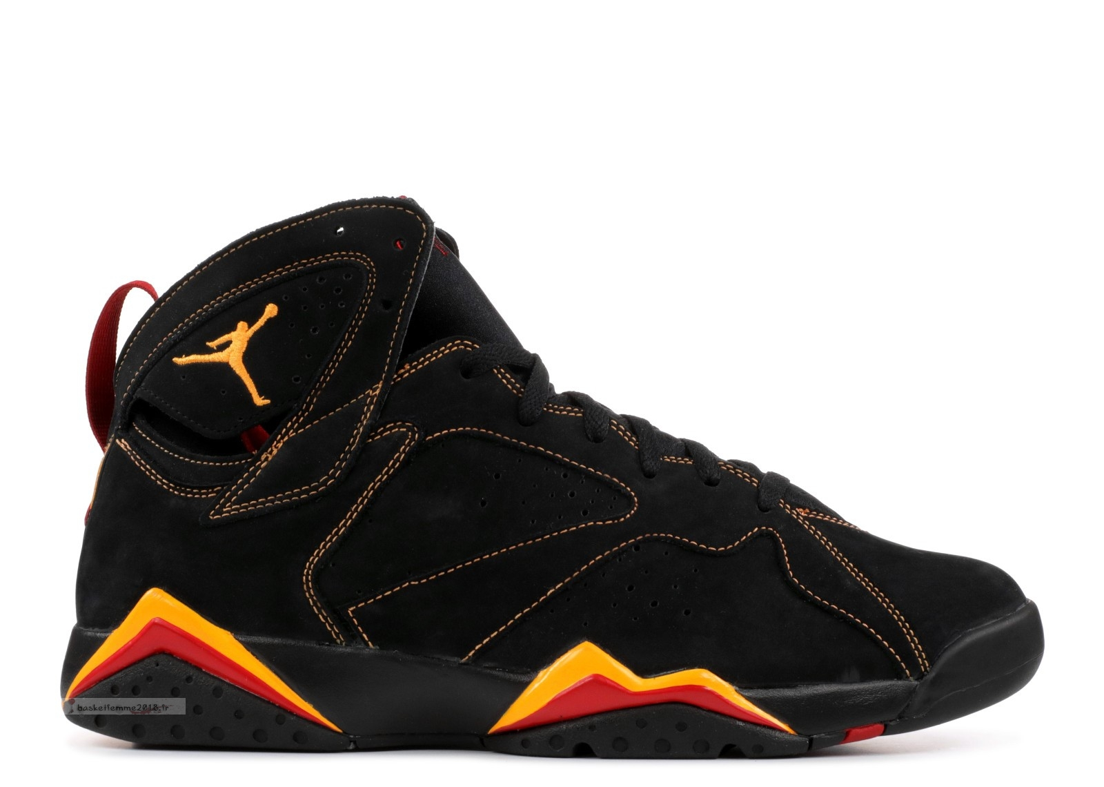 Air Jordan 7 Retro Noir Orange Rouge (304775-081) Chaussure de Basket