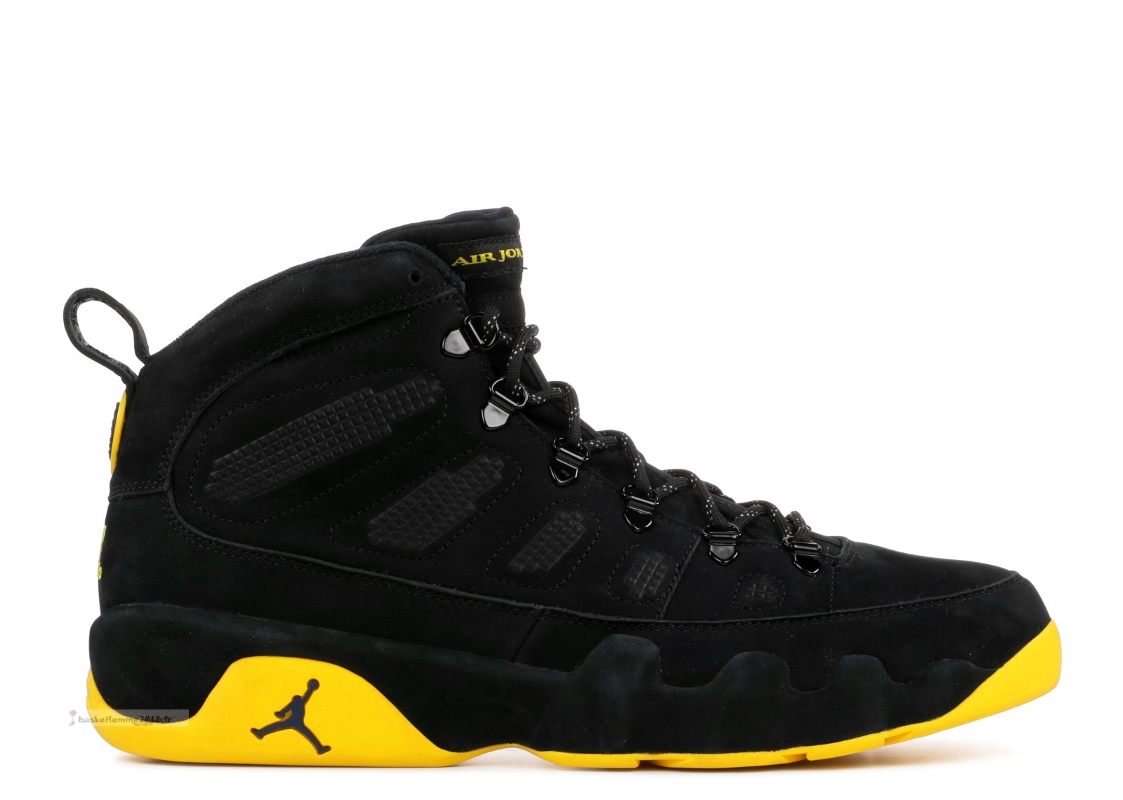 "Air Jordan 9 Retro Boot ""Michigan Psny Pe"" Noir Jaune (mnjdls-266817838) Chaussure de Basket"