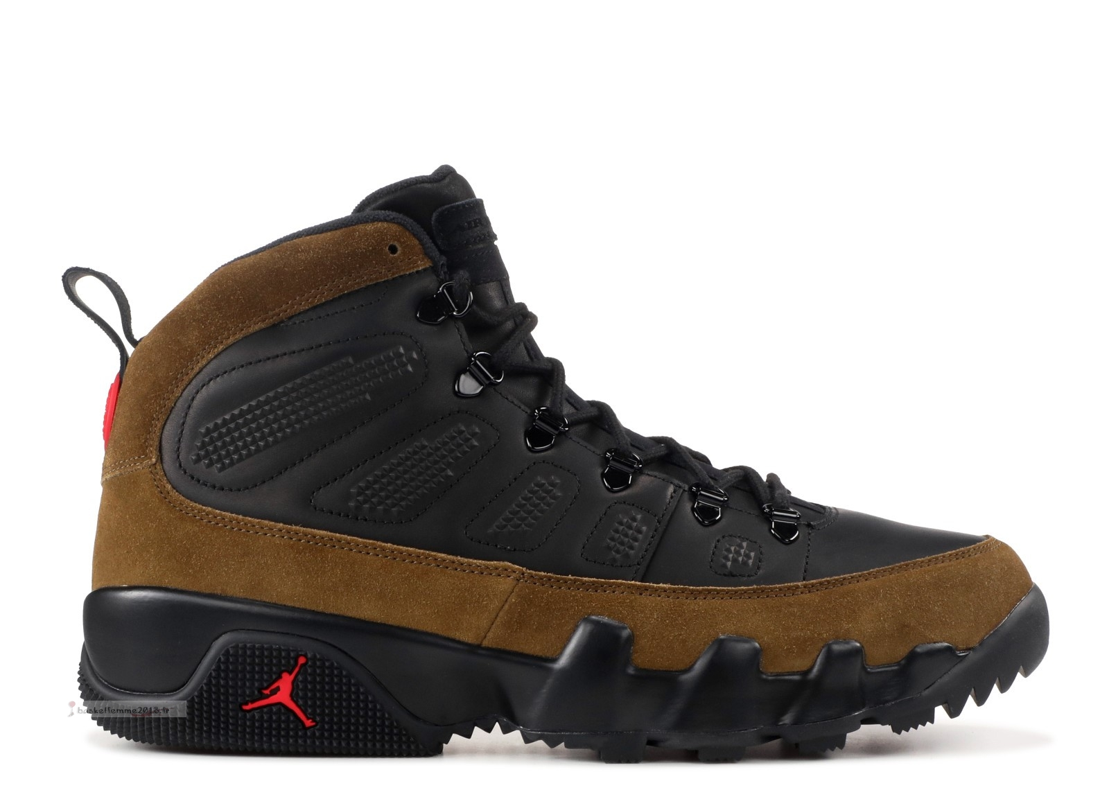 Air Jordan 9 Retro Boot Nrg Noir Rouge (ar4491-012) Chaussure de Basket
