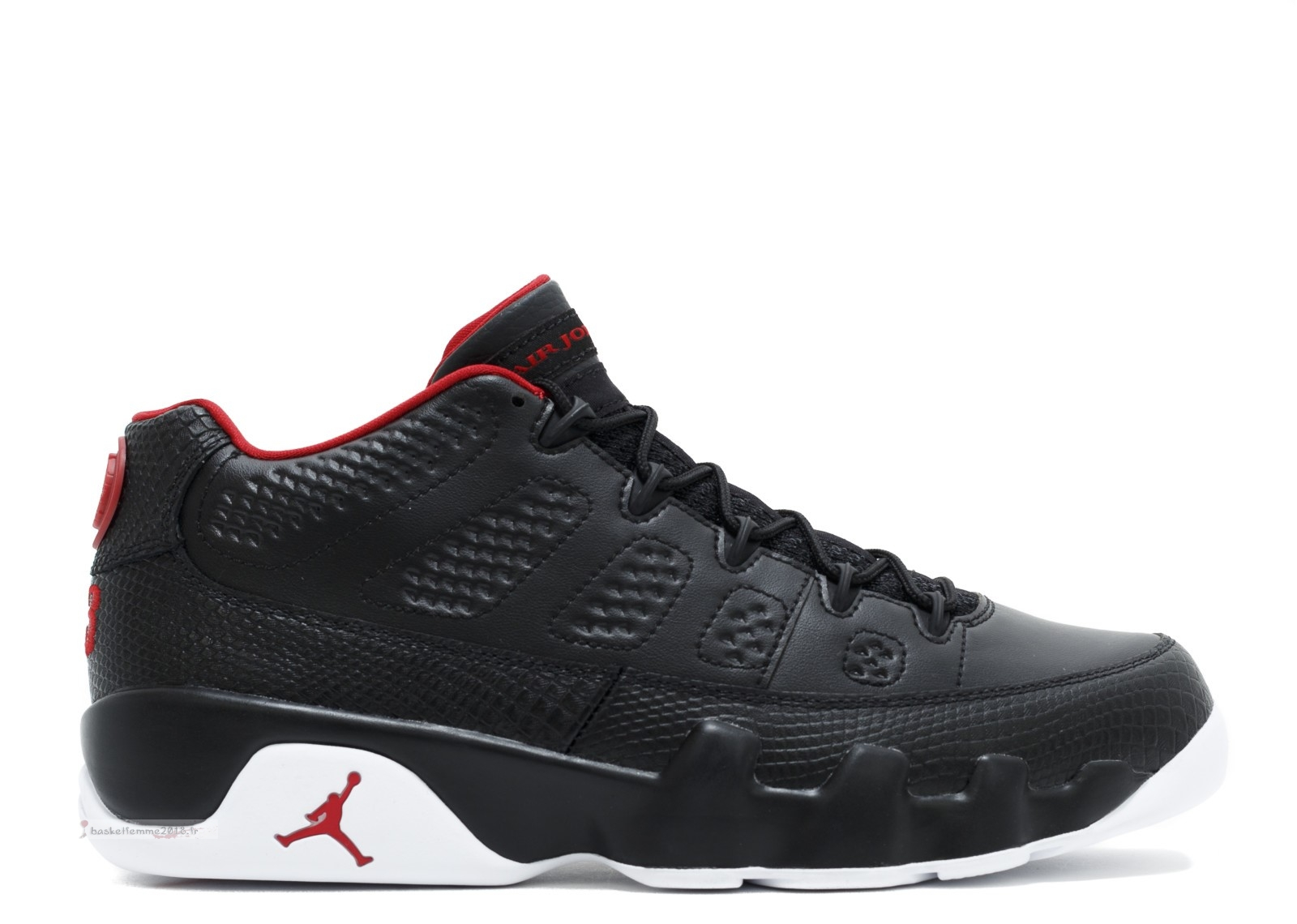 "Air Jordan 9 Retro Low ""Bred"" Noir Blanc Rouge (832822-001) Chaussure de Basket"