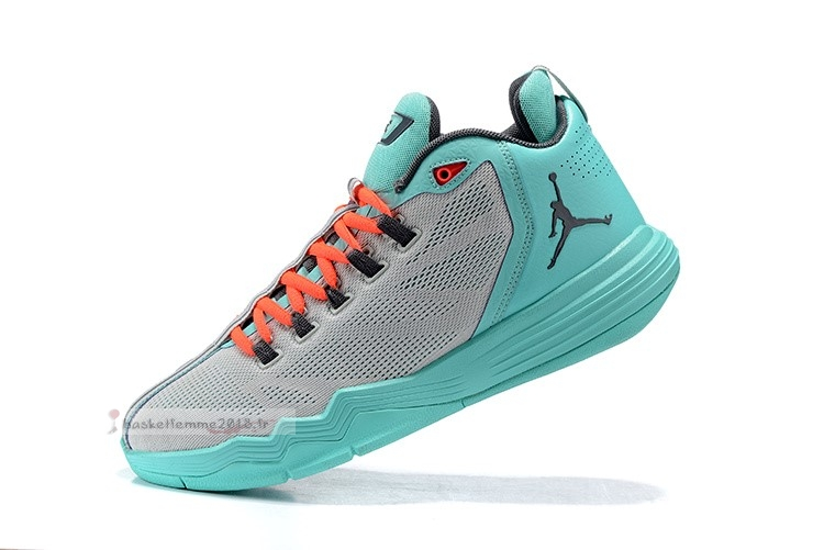Air Jordan Cp3.Ix Gris Sarcelle Orange Chaussure de Basket
