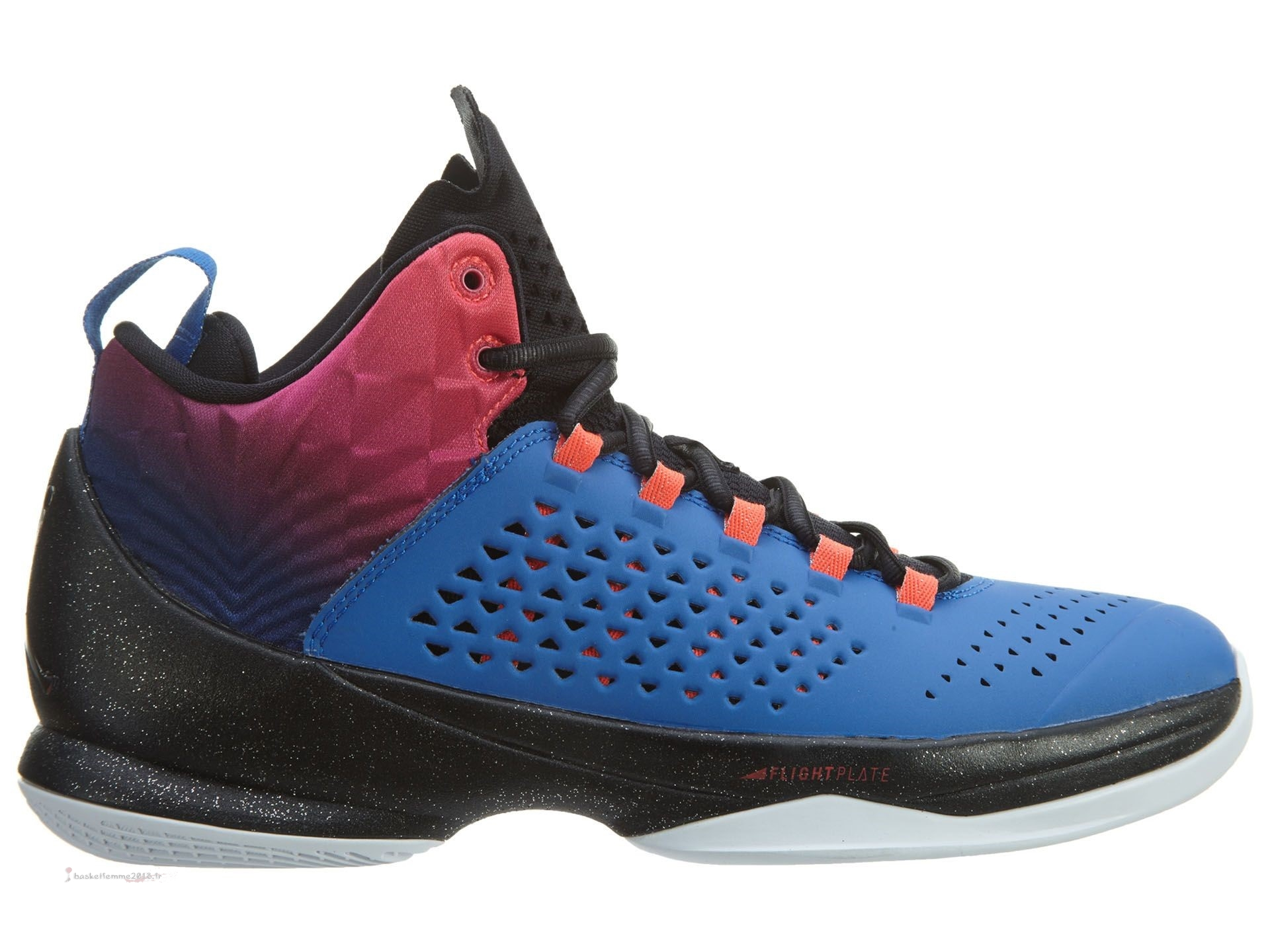Air Jordan Melo M11 Bleu Noir Orange (716227-425) Chaussure de Basket