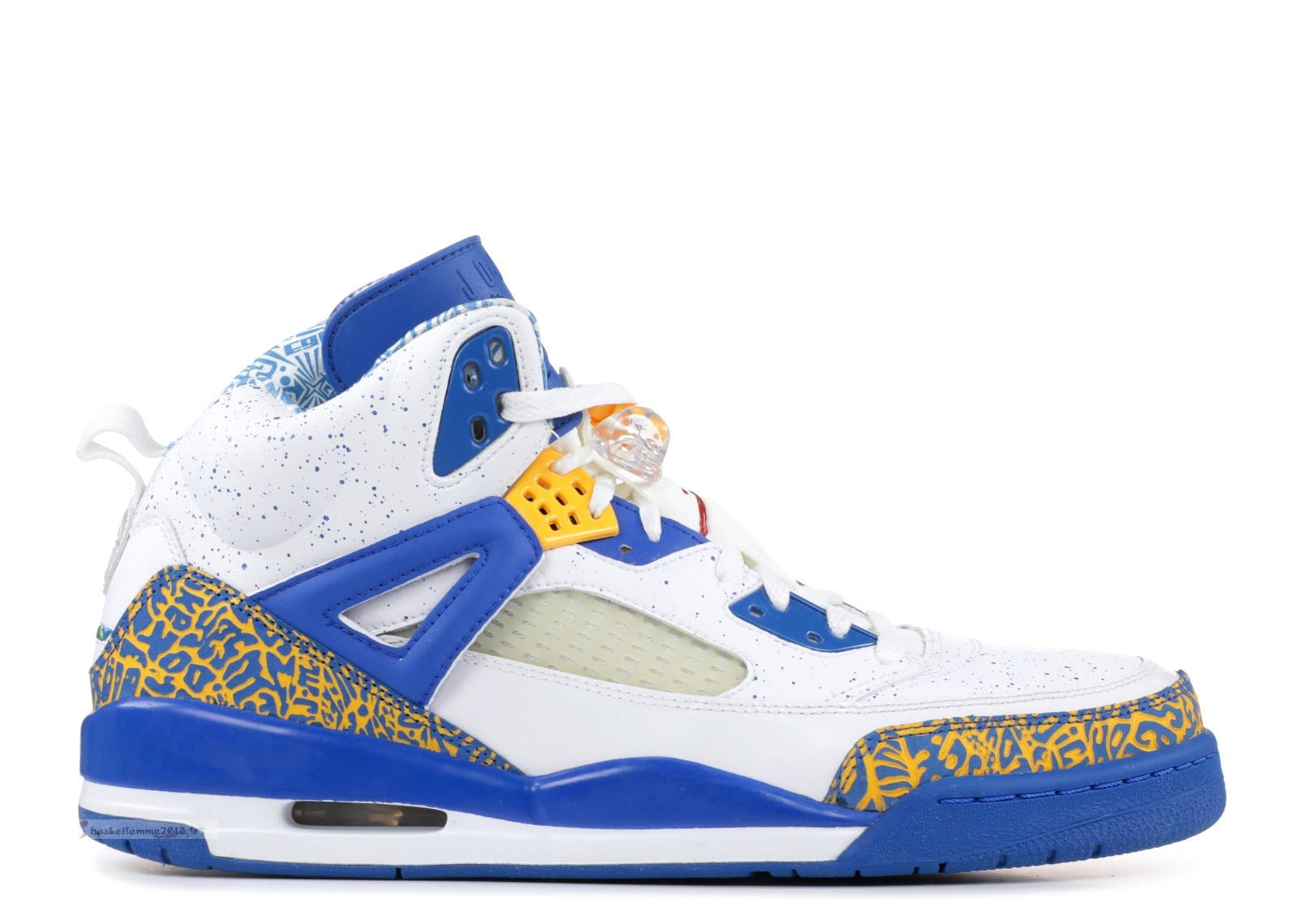 "Air Jordan Spiz'Ike ""Do The Right Thing"" Blanc Bleu Gris (315371-162) Chaussure de Basket"