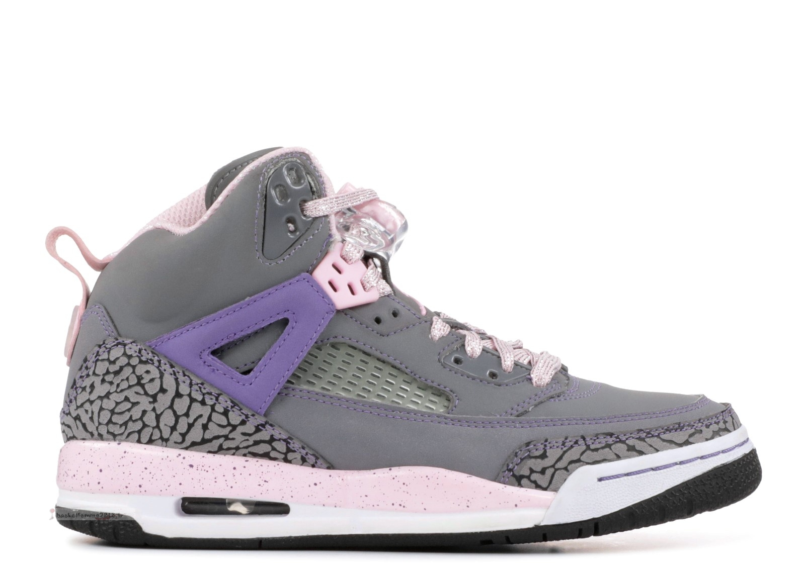 Air Jordan Spiz'Ike (Gs) Gris Rose (535712-028) Chaussure de Basket