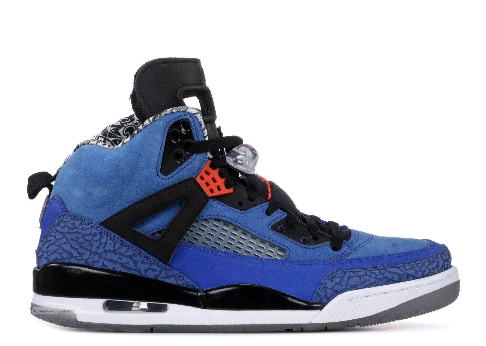 "Air Jordan Spiz'Ike ""New York Knicks"" Bleu Noir (315371-405) Chaussure de Basket"