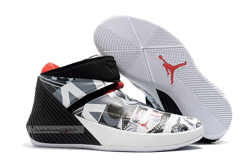 "Jordan Why Not Zer0.1 ""Mirror Image"" Noir Blanc Rouge Chaussure de Basket"