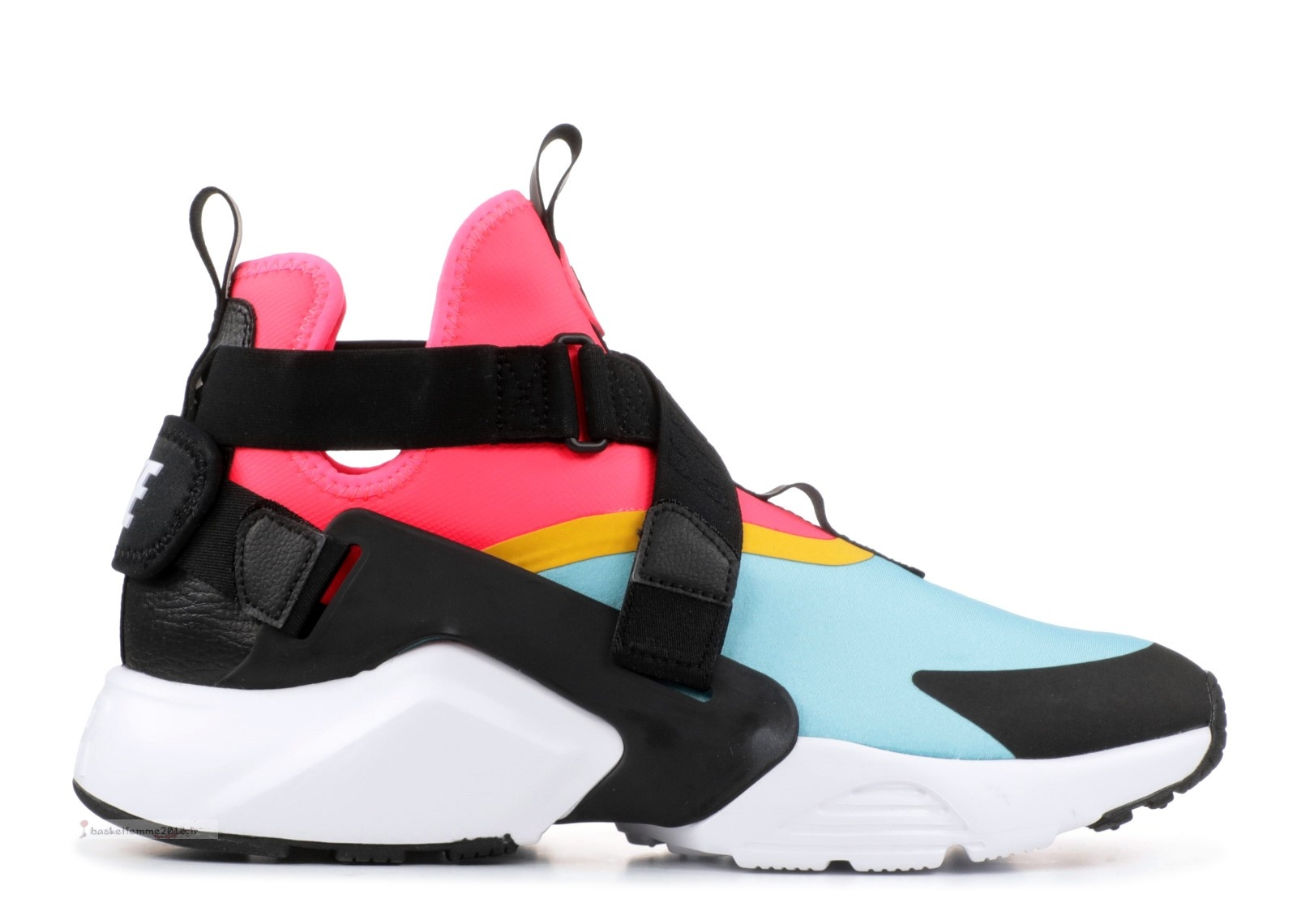 "Nike Air Huarache Run Femme ""City"" Noir Rose Bleu (ah6787-400) Chaussure de Basket"