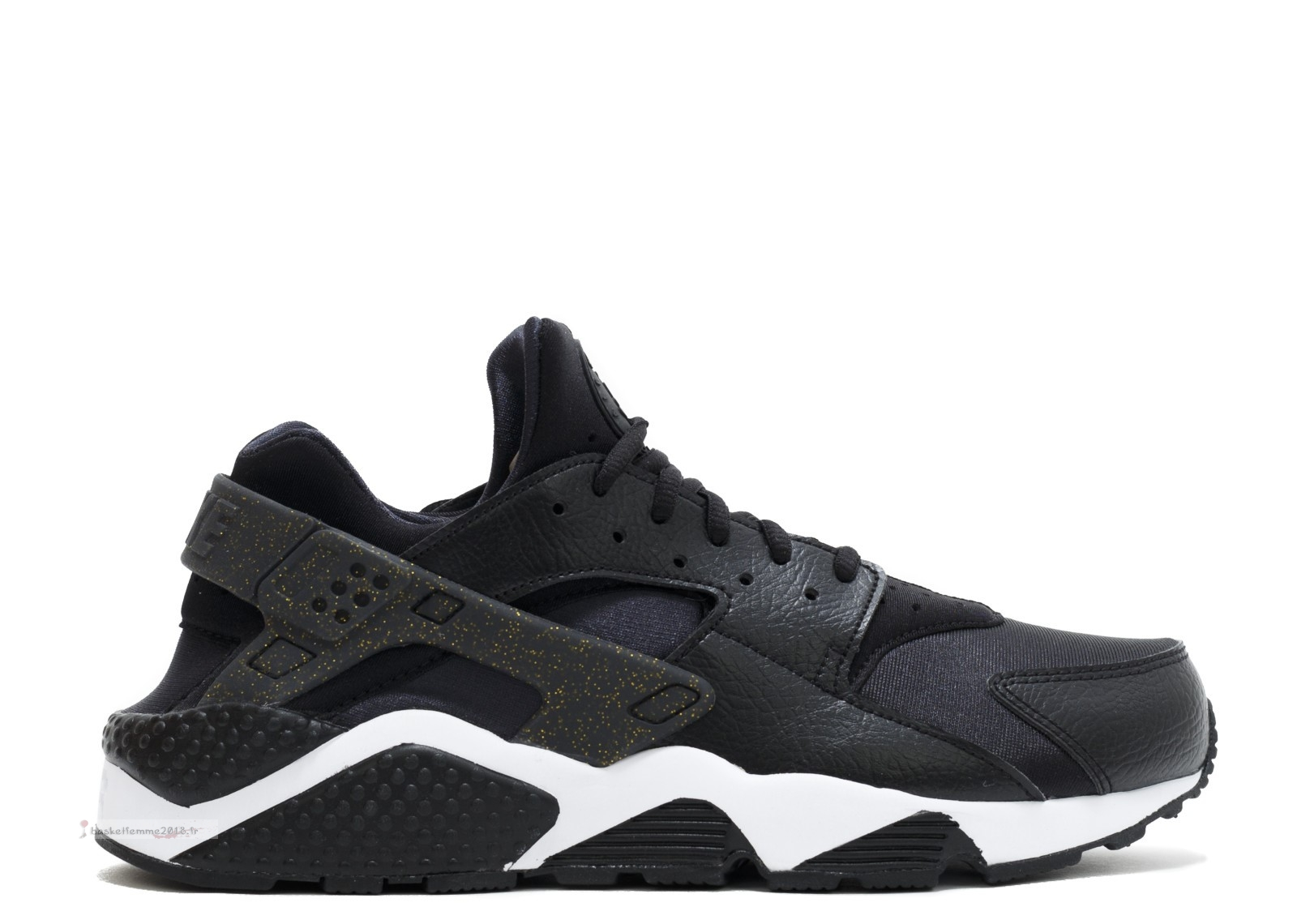 "Nike Air Huarache Run Femme Prm ""Nfl"" Noir Or Blanc (845317-008) Chaussure de Basket"