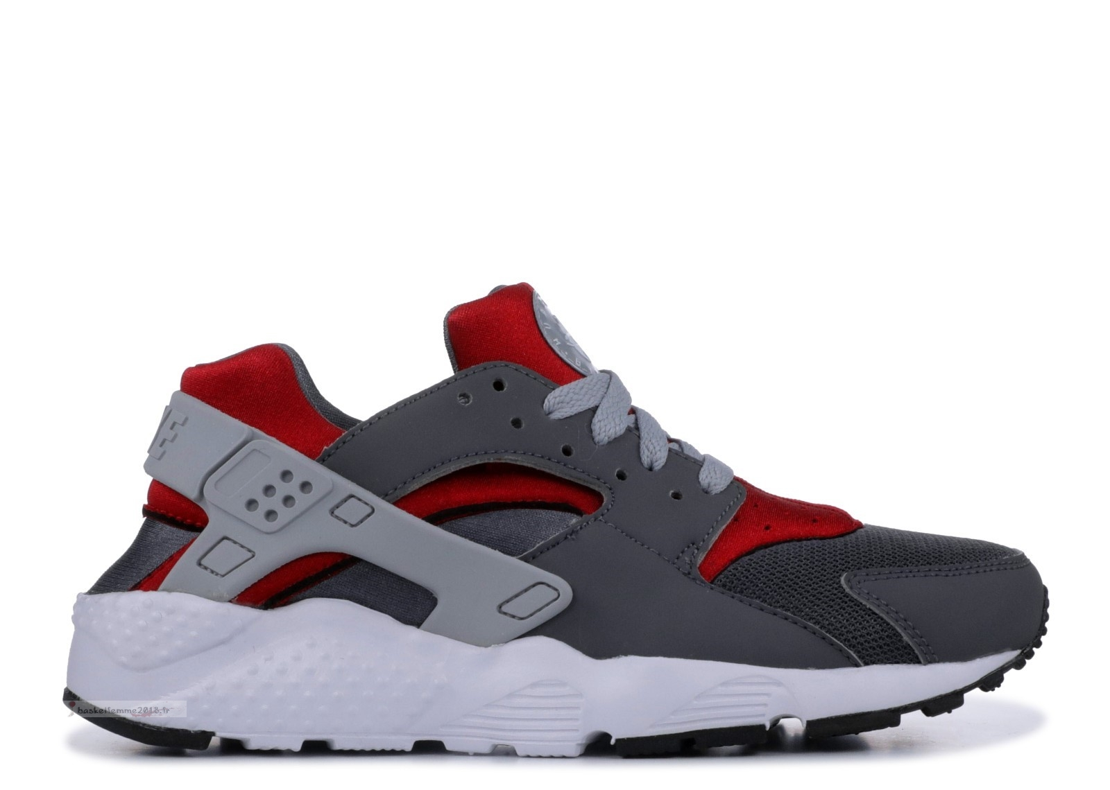 Nike Air Huarache Run (Gs) Gris Rouge (654275-018) Chaussure de Basket