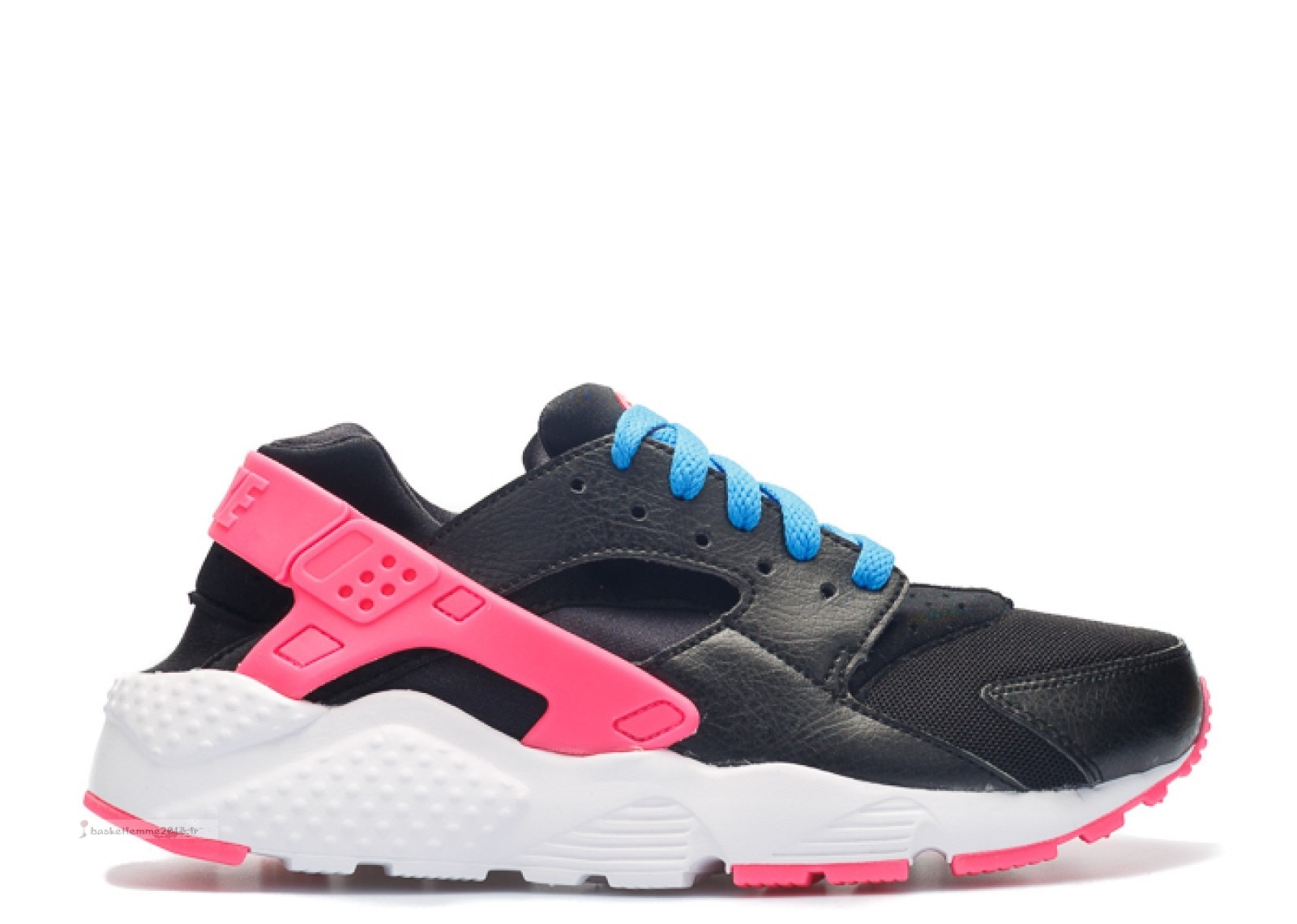 Nike Air Huarache Run (Gs) Noir Rose (654280-004) Chaussure de Basket