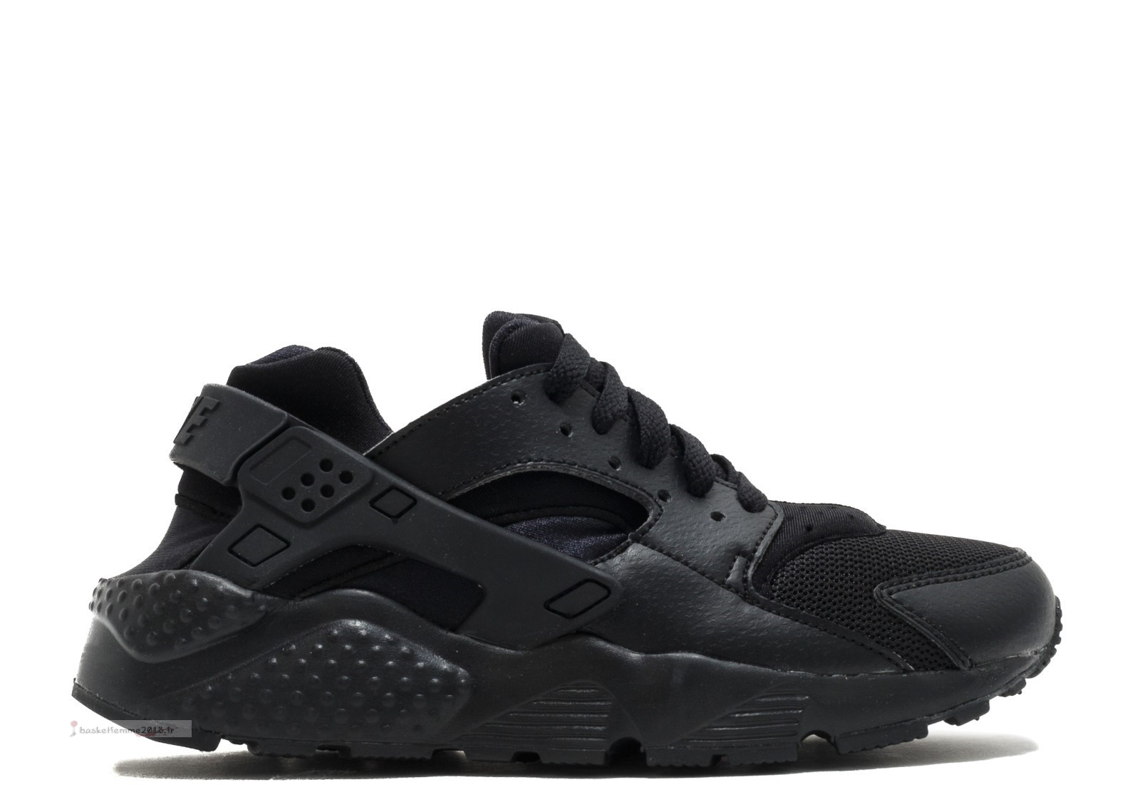 "Nike Air Huarache Run (Gs) ""Triple Noir"" Noir (654275-016) Chaussure de Basket"