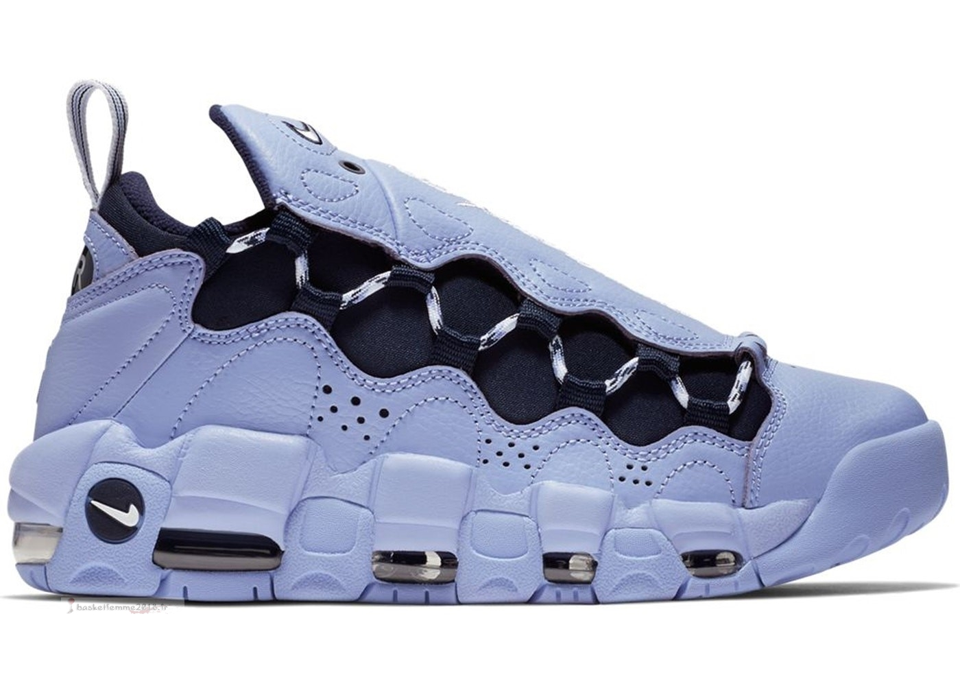 "Nike Air More Money Femme ""This Game Is Mine"" Blanc Noir (ao1749-400) Chaussure de Basket"