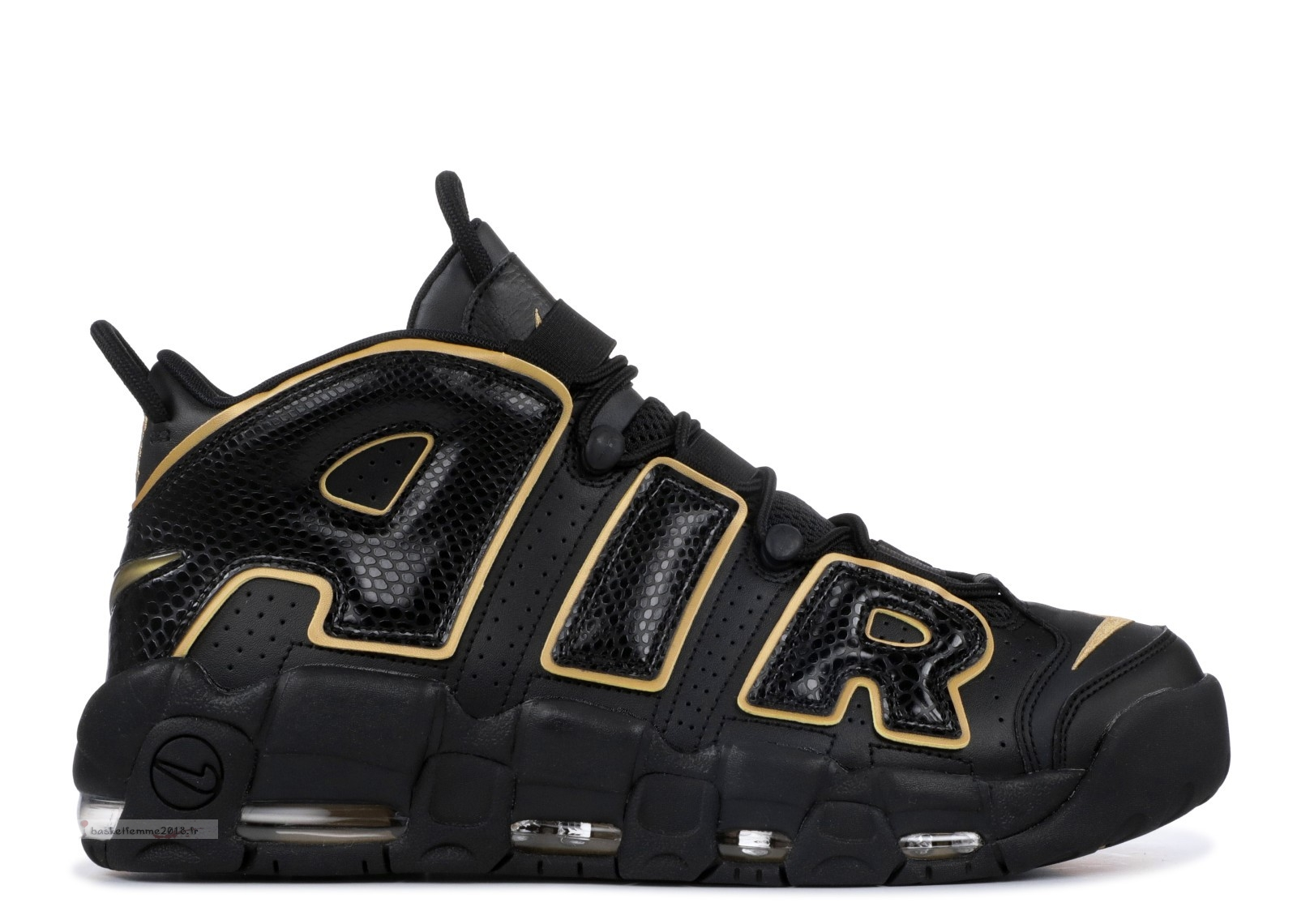 Nike Air More Uptempo '96 France Qs Noir Métallique Or (av3810-001) Chaussure de Basket