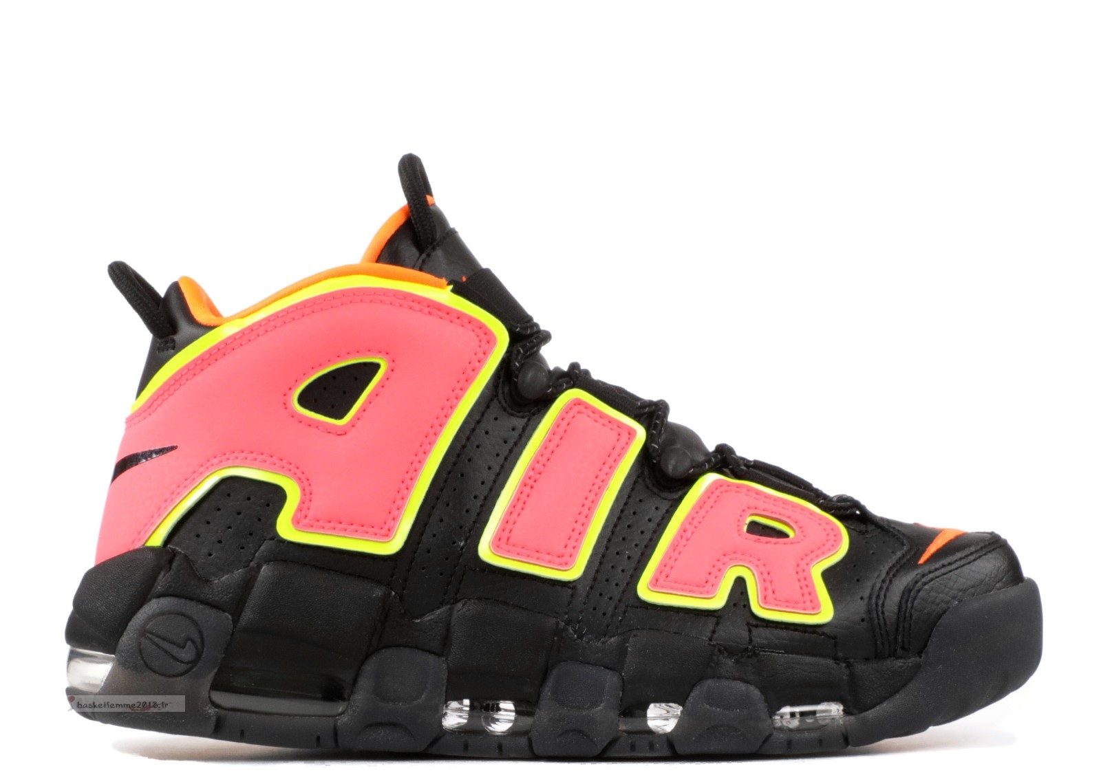 Nike Air More Uptempo Femme Noir Orange (917593-002) Chaussure de Basket