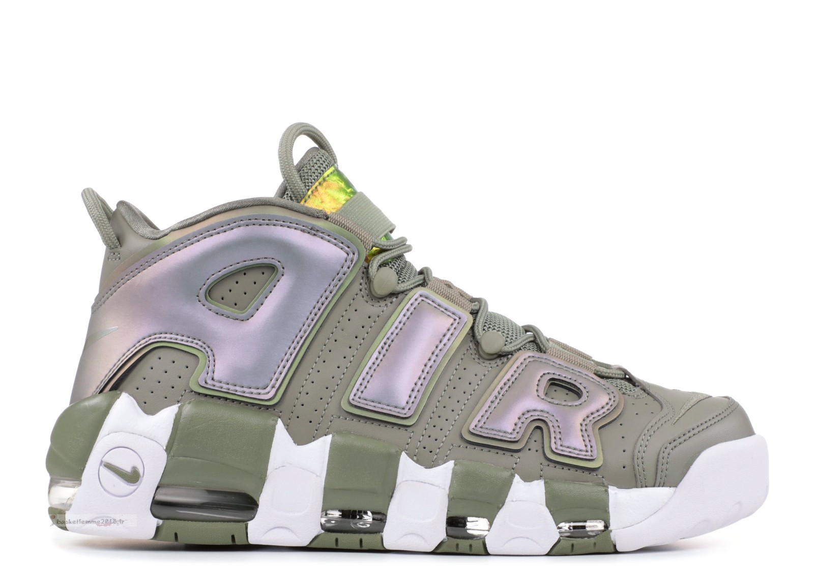 Nike Air More Uptempo Femme Olive (917593-001) Chaussure de Basket