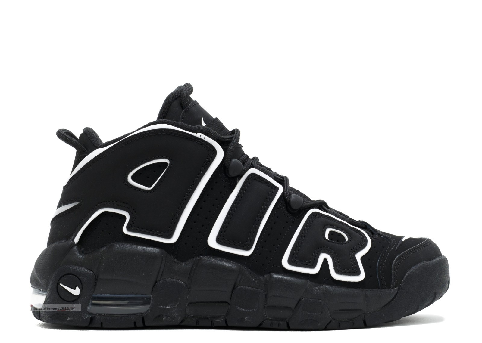Nike Air More Uptempo (Gs) Noir Blanc Noir (415082-002) Chaussure de Basket