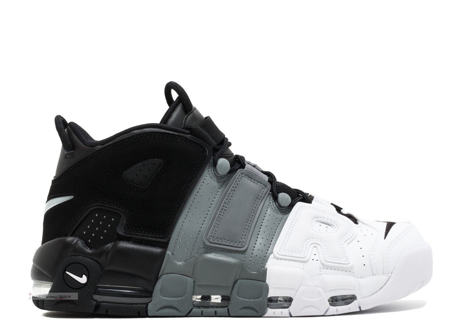 "Nike Air More Uptempo ""Tri Color"" Noir Gris Blanc (921948-002) Chaussure de Basket"