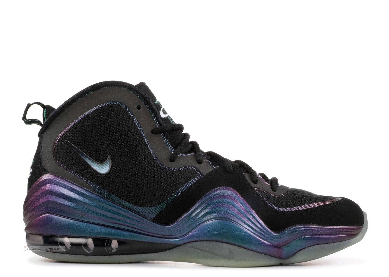 "Nike Air Penny 5 ""Invisibility Cloak"" Noir Pourpre (537331-002) Chaussure de Basket"