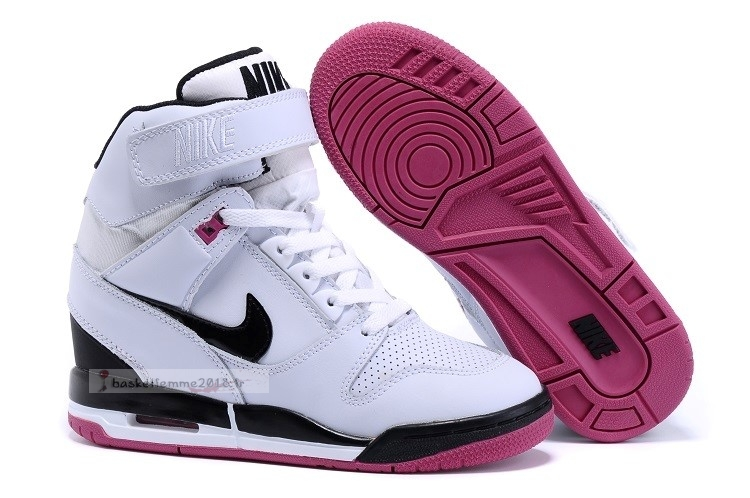 Nike Air Revolution Sky Femme High Wedge Sneakers Blanc Rose Noir Chaussure de Basket