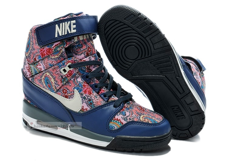 Nike Air Revolution Sky Femme High Wedge Sneakers Bleu Multicolore (599410-200) Chaussure de Basket