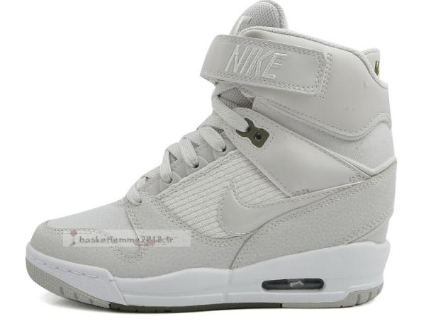 Nike Air Revolution Sky Femme High Wedge Sneakers Gris Blanc Chaussure de Basket