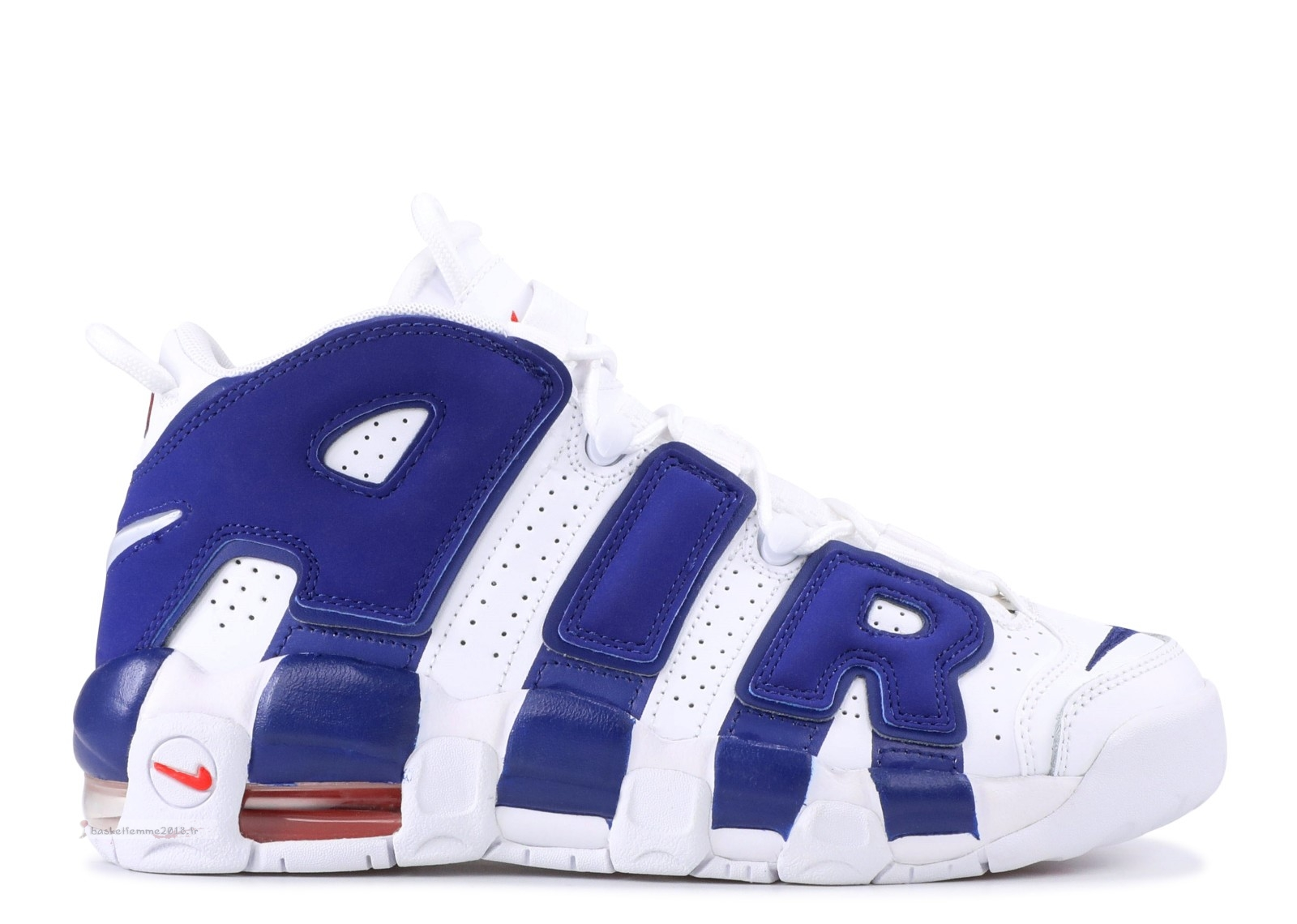 "Nike Air Uptempo (Gs) ""Knicks"" Blanc Bleu (415082-103) Chaussure de Basket"