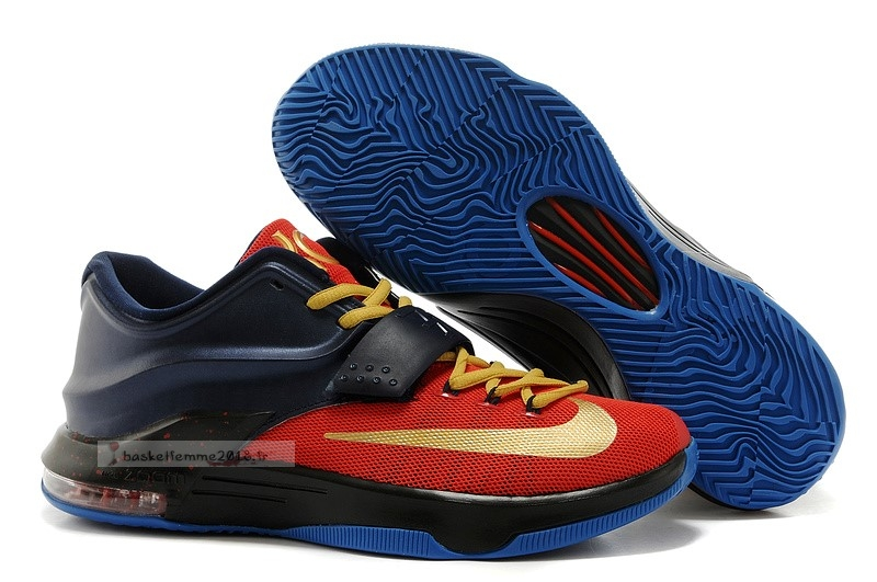 Nike Kd Vii 7 Marine Rouge Or Chaussure de Basket