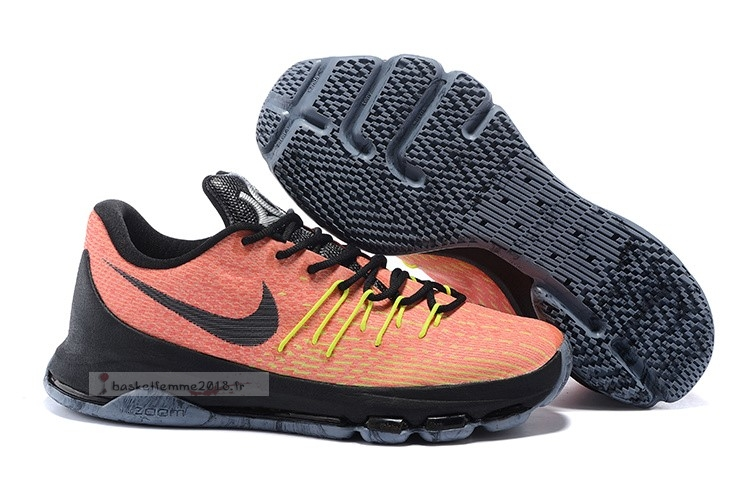 "Nike Kd Viii 8 Femme ""Hunts Hill Sunrise"" Orange Noir Chaussure de Basket"