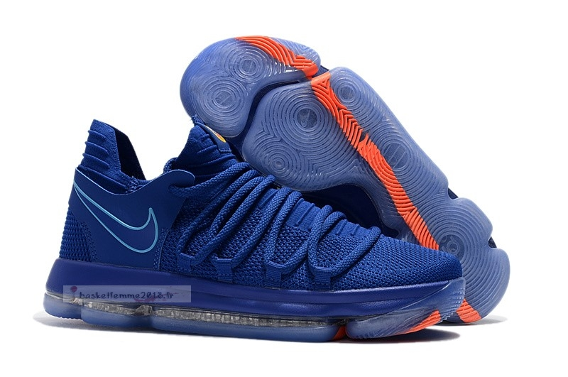 "Nike Kd X 10 ""City Series"" Bleu Orange Chaussure de Basket"