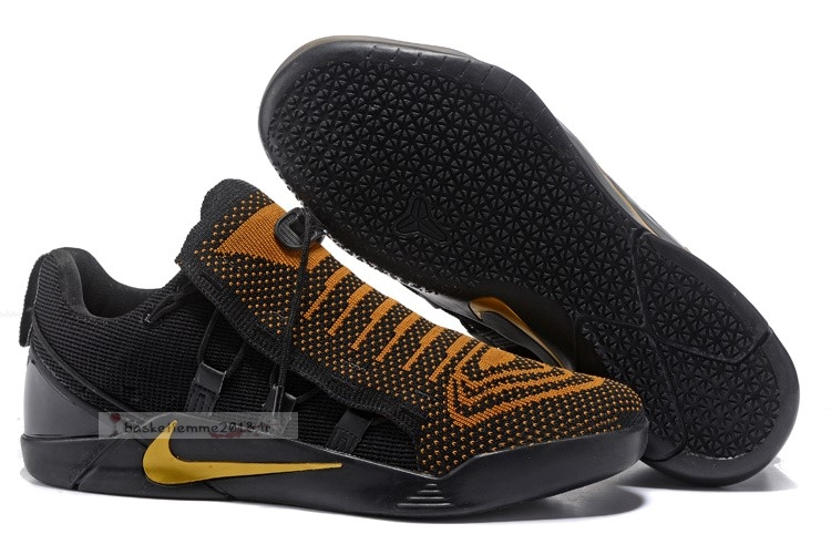 Nike Kobe A.D. Nxt Noir Or Orange Chaussure de Basket