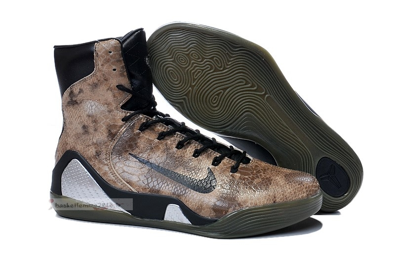 "Nike Kobe Ix 9 Elite High Ext Qs ""Snakeskin""Marron Chaussure de Basket"