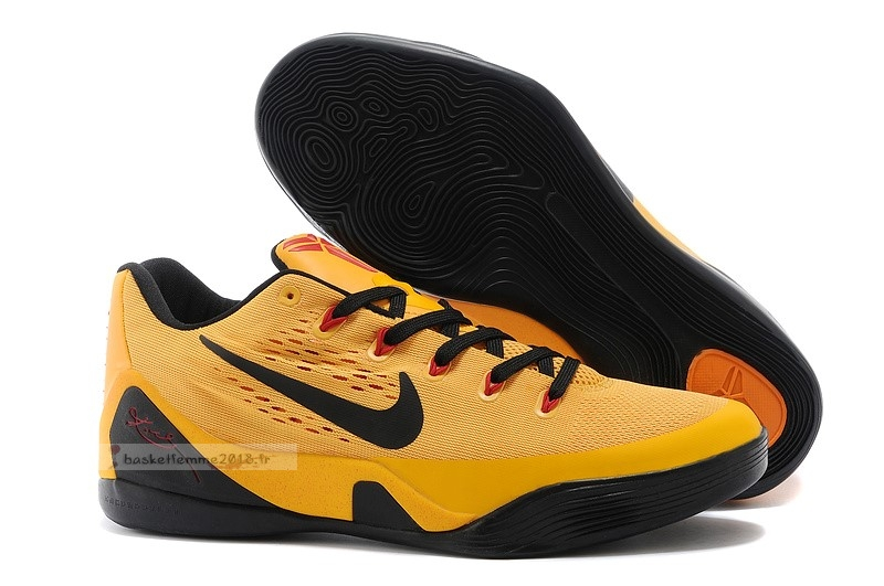 "Nike Kobe Ix 9 Low Em ""Bruce Lee"" Or Noir Chaussure de Basket"