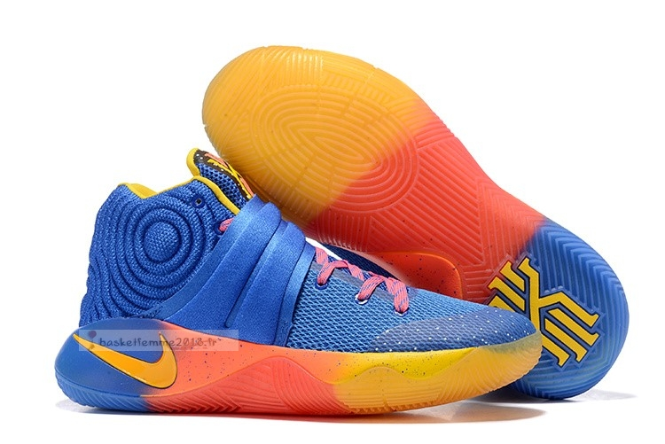 "Nike Kyrie Irving Ii 2 Femme ""Chicago"" Bleu Orange Chaussure de Basket"