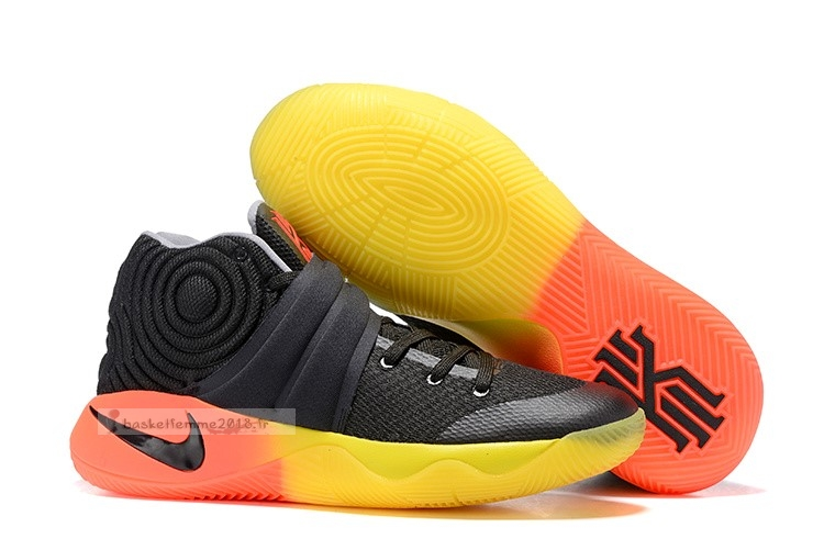 Nike Kyrie Irving Ii 2 Noir Orange Jaune Chaussure de Basket