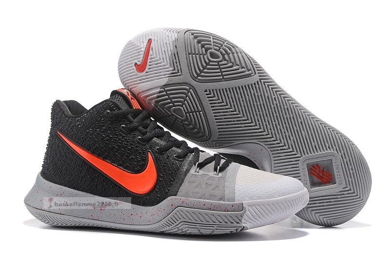 "Nike Kyrie Irving Iii 3 ""White Toe"" Black Red Chaussure de Basket"