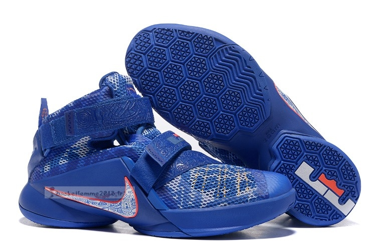 "Nike Lebron Soldier Ix 9 ""Freegums"" Bleu Chaussure de Basket"