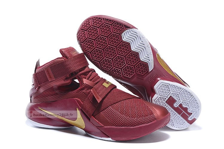 Nike Lebron Soldier Ix 9 Rouge Or Chaussure de Basket
