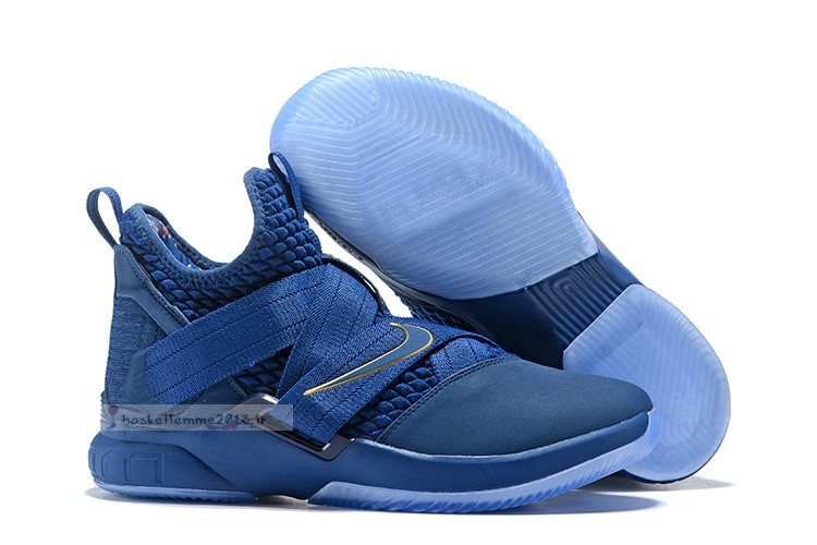 Nike Lebron Soldier Xii 12 Marine Or Chaussure de Basket