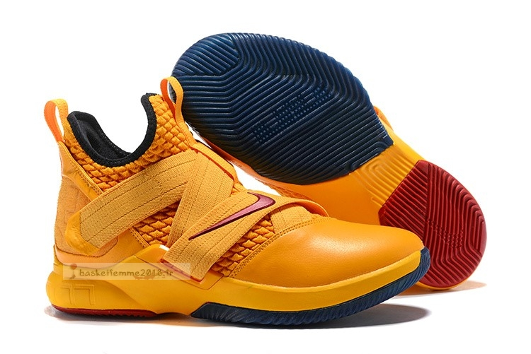 Nike Lebron Soldier Xii 12 Orange Rouge Chaussure de Basket