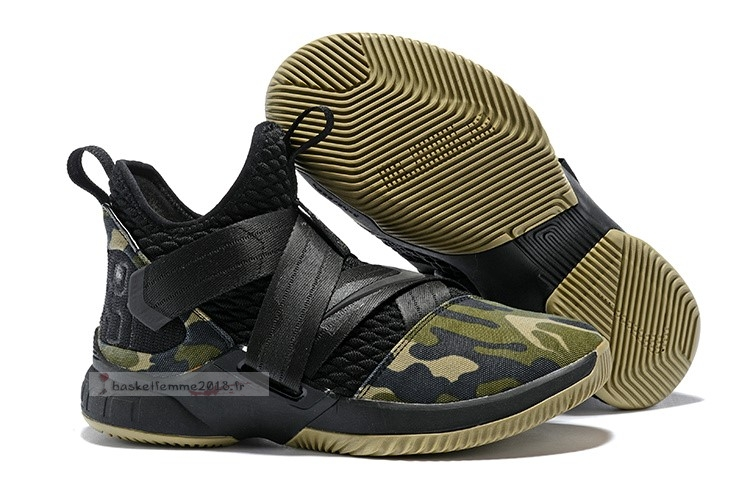 Nike Lebron Soldier Xii 12 Sfg Camo Black Chaussure de Basket