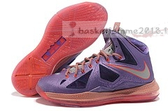 "Nike Lebron X 10 ""All Star"" Pourpre Chaussure de Basket"